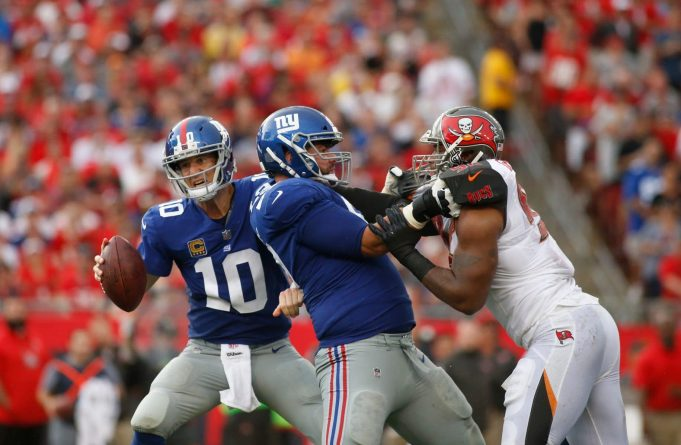 New York Giants Will Start Justin Pugh at Right Tackle Against Broncos