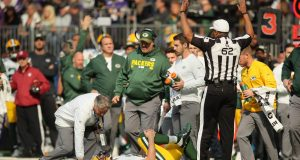 Aaron Rodgers Carted Off the Field With Injury (Video)