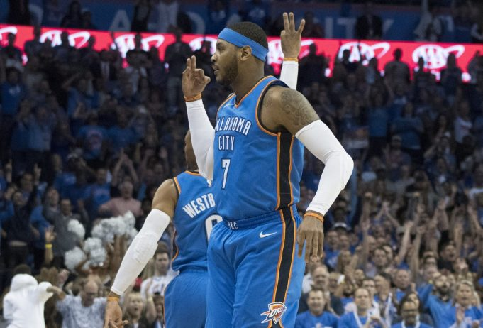 New York Knicks Fall to Carmelo Anthony, Thunder, 105-84 (Highlights) 2