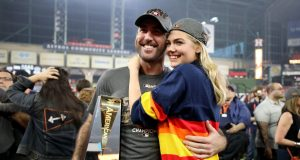 Kate Upton Celebrates With Houston Astros ALCS MVP Justin Verlander (Video) 1
