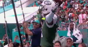 New York Jets Torching Dolphins; Robby Anderson Takes Seat in Stands (Video)