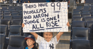 Little Yankees' Fan Trolls Twins With Jay-Z Lyrics Before Wild Card Game