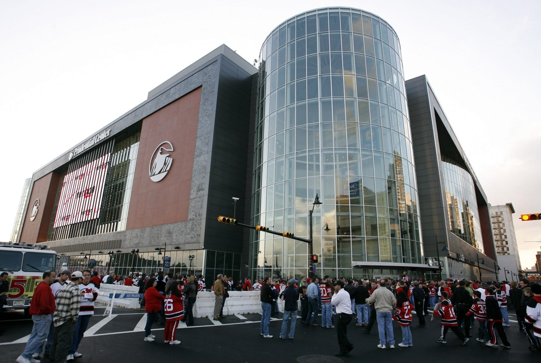 NEWARK NJ – OCTOBER 27 Fans wait outside before a game between the Ottawa Senators and the New Jersey Devils at the Prudential Center October 27