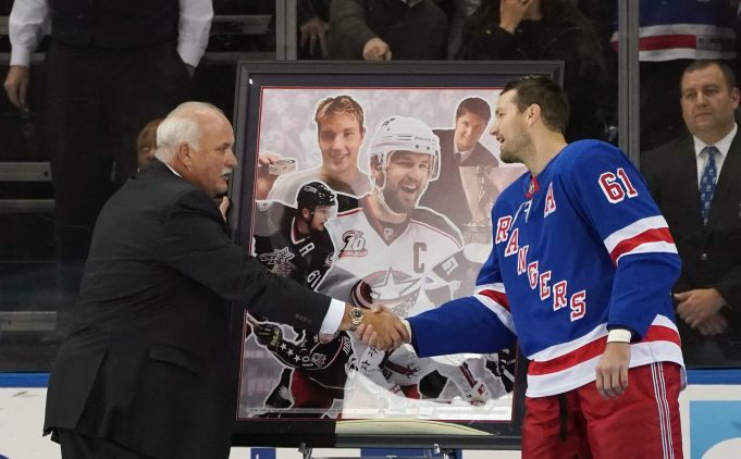 New York Rangers Honor Rick Nash For 1,000 Games In The NHL (Video)