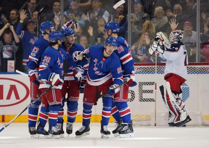 Mika Zibanejad's 3 Assists Help New York Rangers Edge Columbus (Highlights)