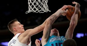 Cody Zeller Rejected 4 Straight Times by Kristaps Porzingis, Kyle O'Quinn (Video)