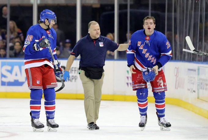 New York Rangers Report, 11/14/17: Jimmy Vesey's Lip, Brendan Smith Out Again