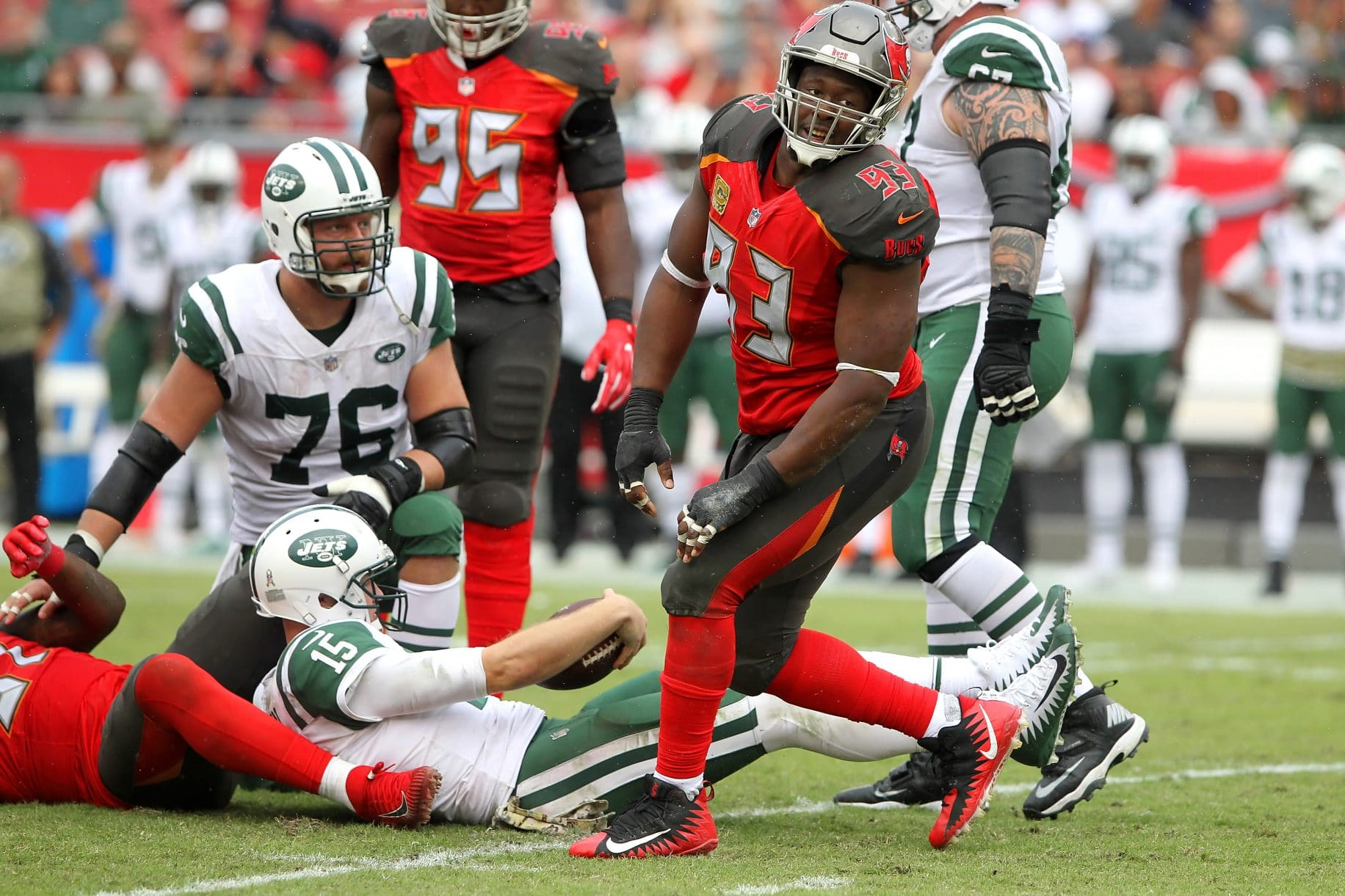 Jets Must Build O-Line; Franchise QB Will Eventually Come (Film Room) 3