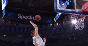 Kristaps Porzingis, Frank Ntilikina Connect On Crazy Alley-oop (Video)