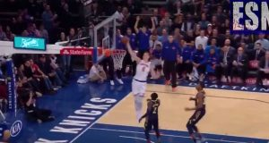 New York Knicks' Kristaps Porzingis Stuns Pacers With Signature Dunk (Video)