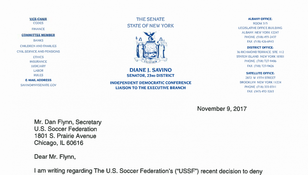 New York Cosmos: Open letters to the United States Soccer Federation 10