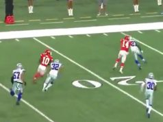Dallas Baffled By Unlikely Tyreek Hill Touchdown As First Half Expires (Video)
