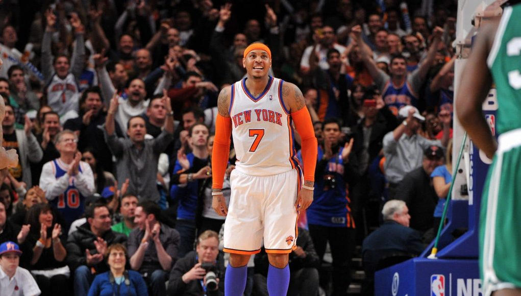 Carmelo Anthony New York Knicks Boston Celtics