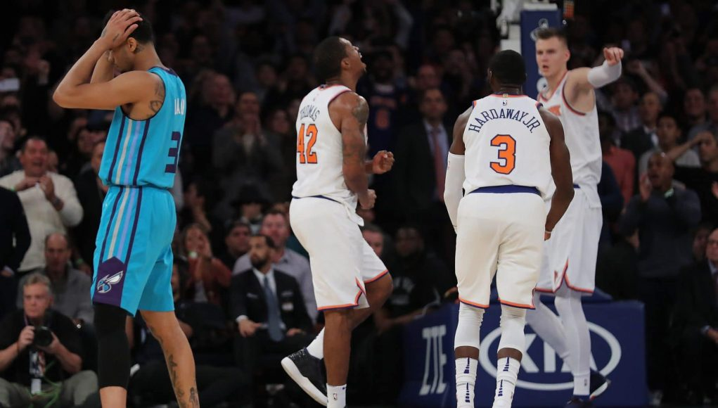 Kristaps Porzingis Tim Hardaway Jr. New York Knicks