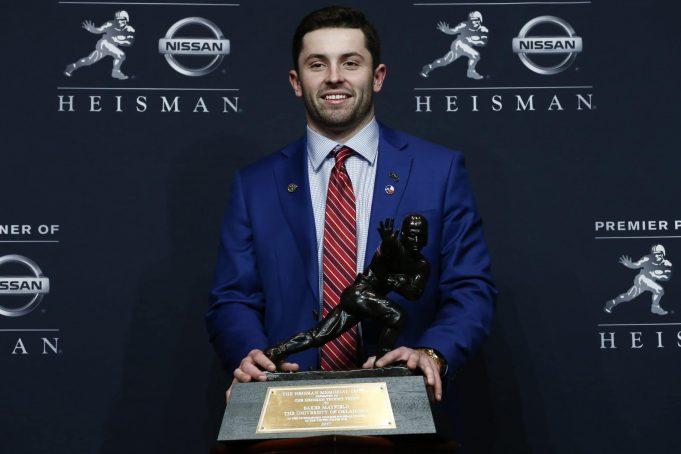Oklahoma's Baker Mayfield defiantly captures the 2017 Heisman Trophy