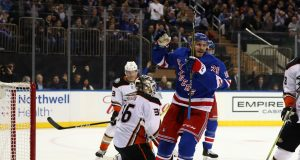 New York Rangers 4, Anaheim Ducks 1: Paul Carey's two goals lead way