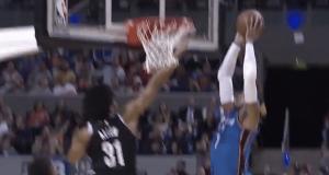 Brooklyn Nets' Jarrett Allen abuses Carmelo Anthony at the rim (Video)