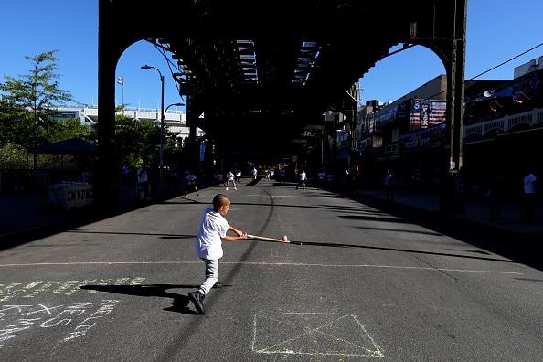 Stickball in the shadows of Yankee Stadium