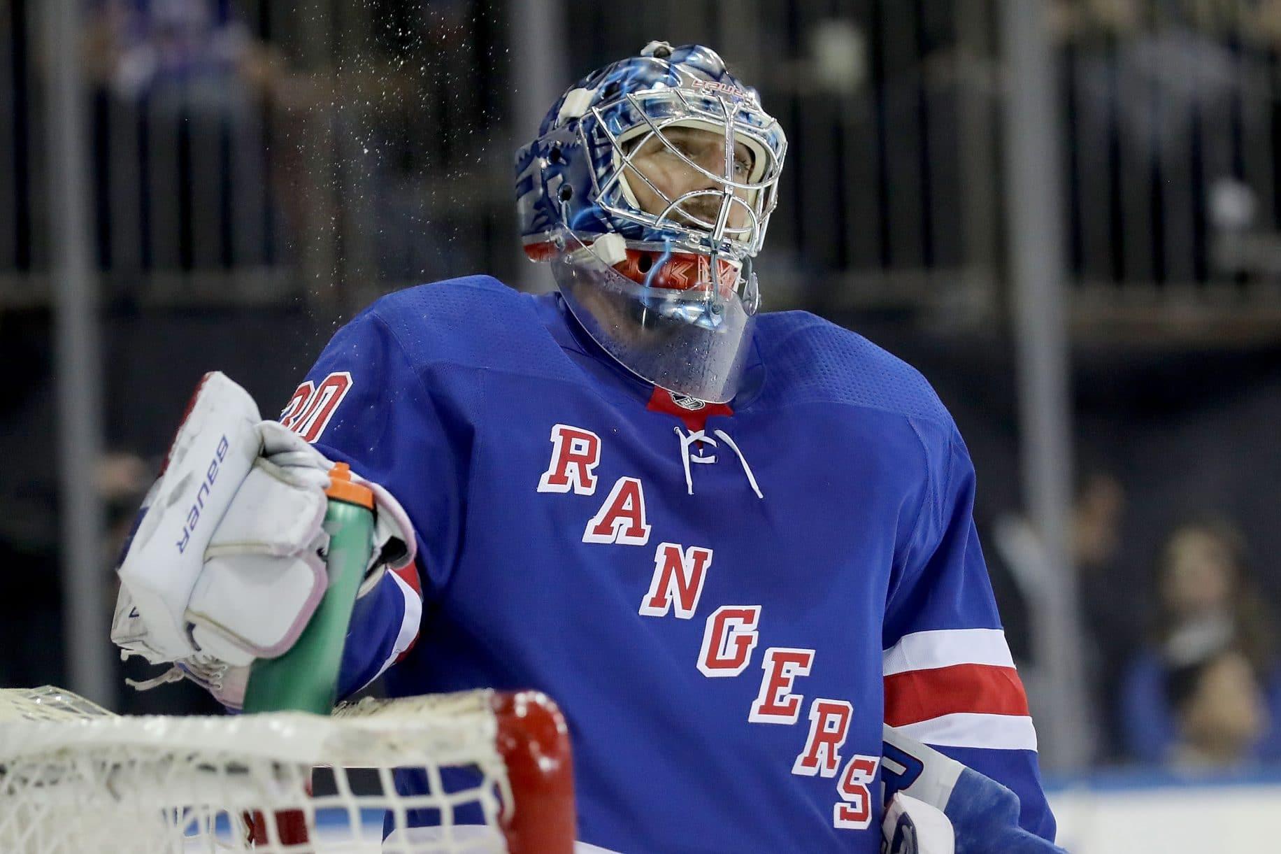 A frustrated Henrik Lundqvist
