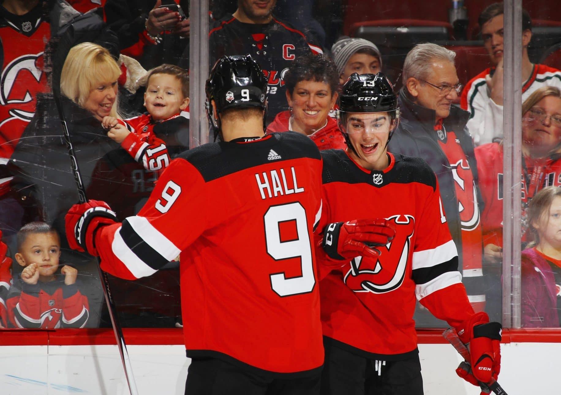 Taylor Hall, Nico Hischier, New Jersey Devils
