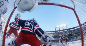 Henrik Lundqvist at the 2018 Winter Classic