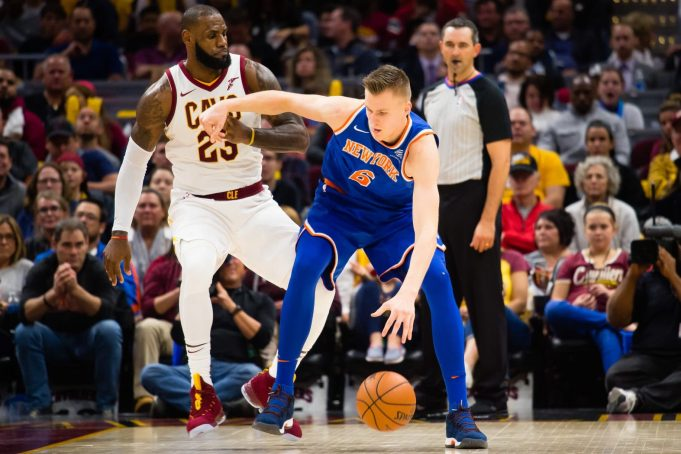 Kristaps Porzingis, LeBron James, New York Knicks