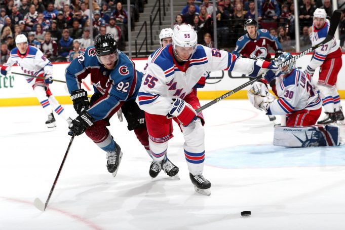 Nick Holden vs his former team the Colorado Avalanche