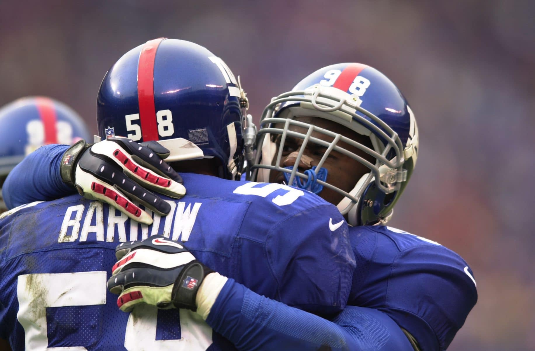 Jessie Armstead, Michael Barrow, New York Giants