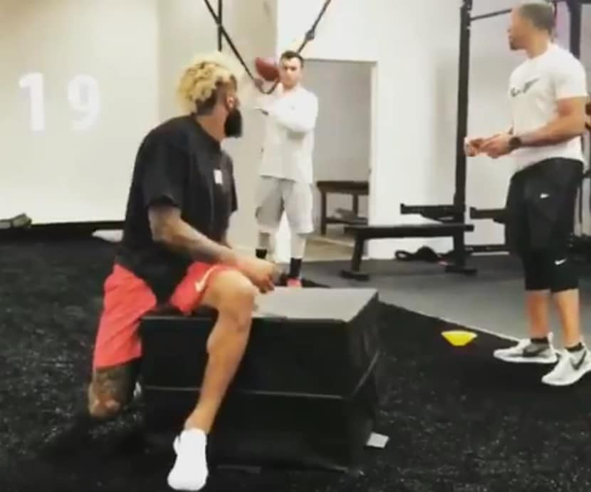 Giants  Odell Beckham Jr. working out with Johnny Manziel again (Video) cedaf20c2
