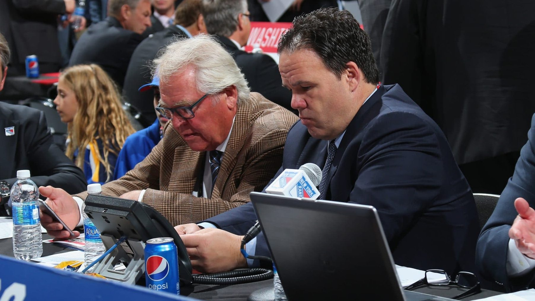 Glen Sather, Jeff Gorton, New York Rangers