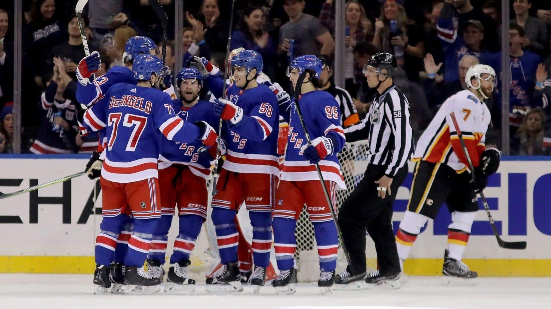 New York Rangers celebrate goal