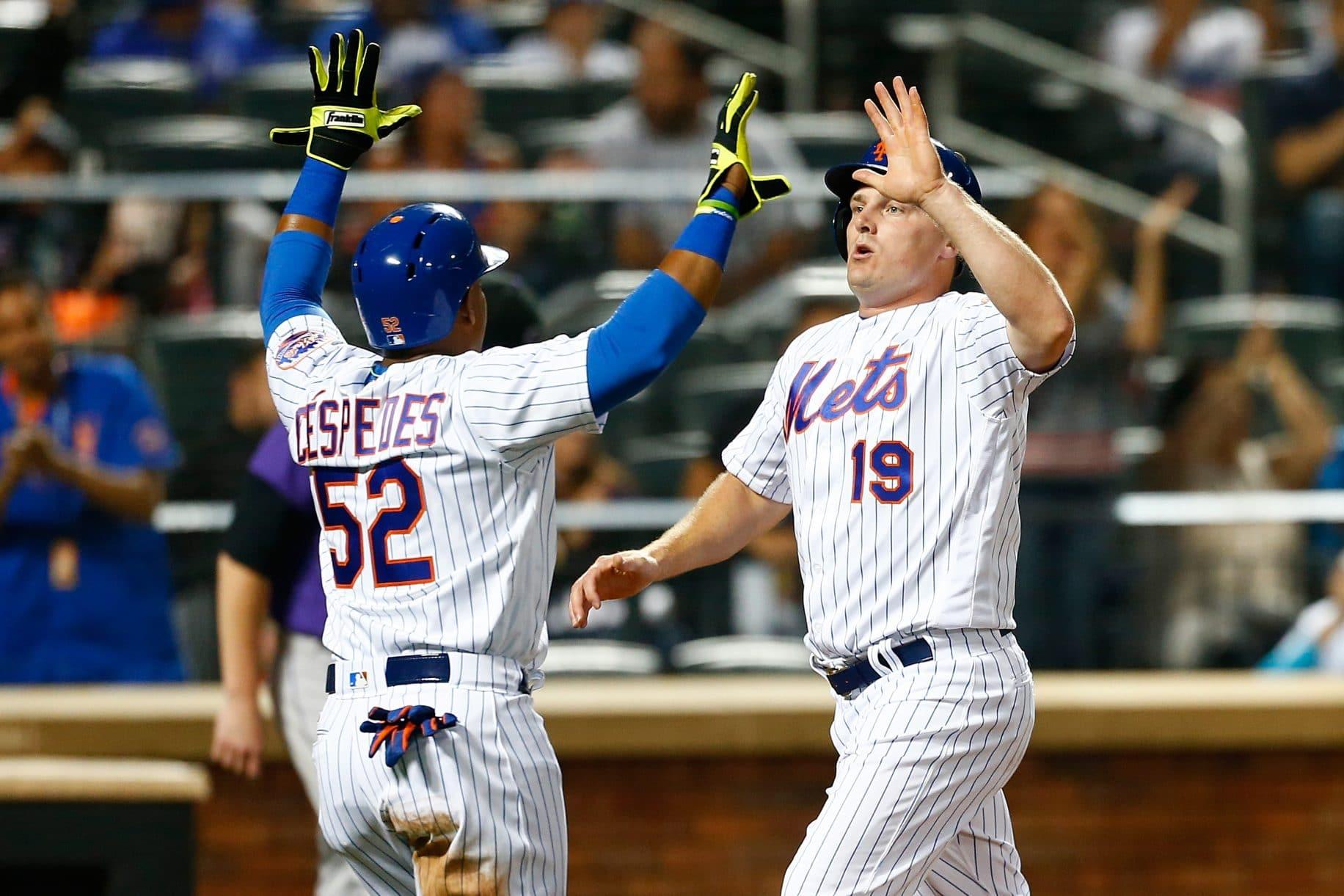 Jay Bruce, Yoenis Cespedes, New York Mets