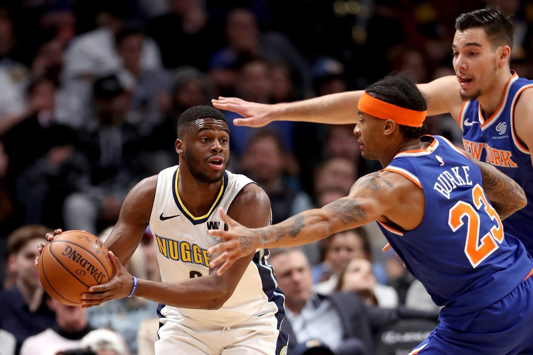 New York Knicks Denver Nuggets Emmanuel Mudiay
