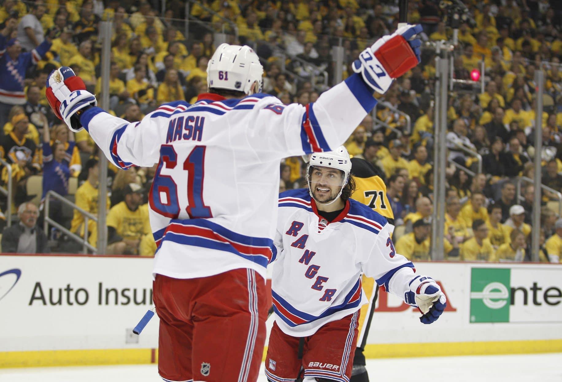 Rick Nash, Mats Zuccarello, New York Rangers