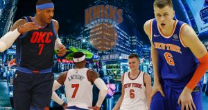 Kristaps Porzingis Carmelo Anthony New York Knicks