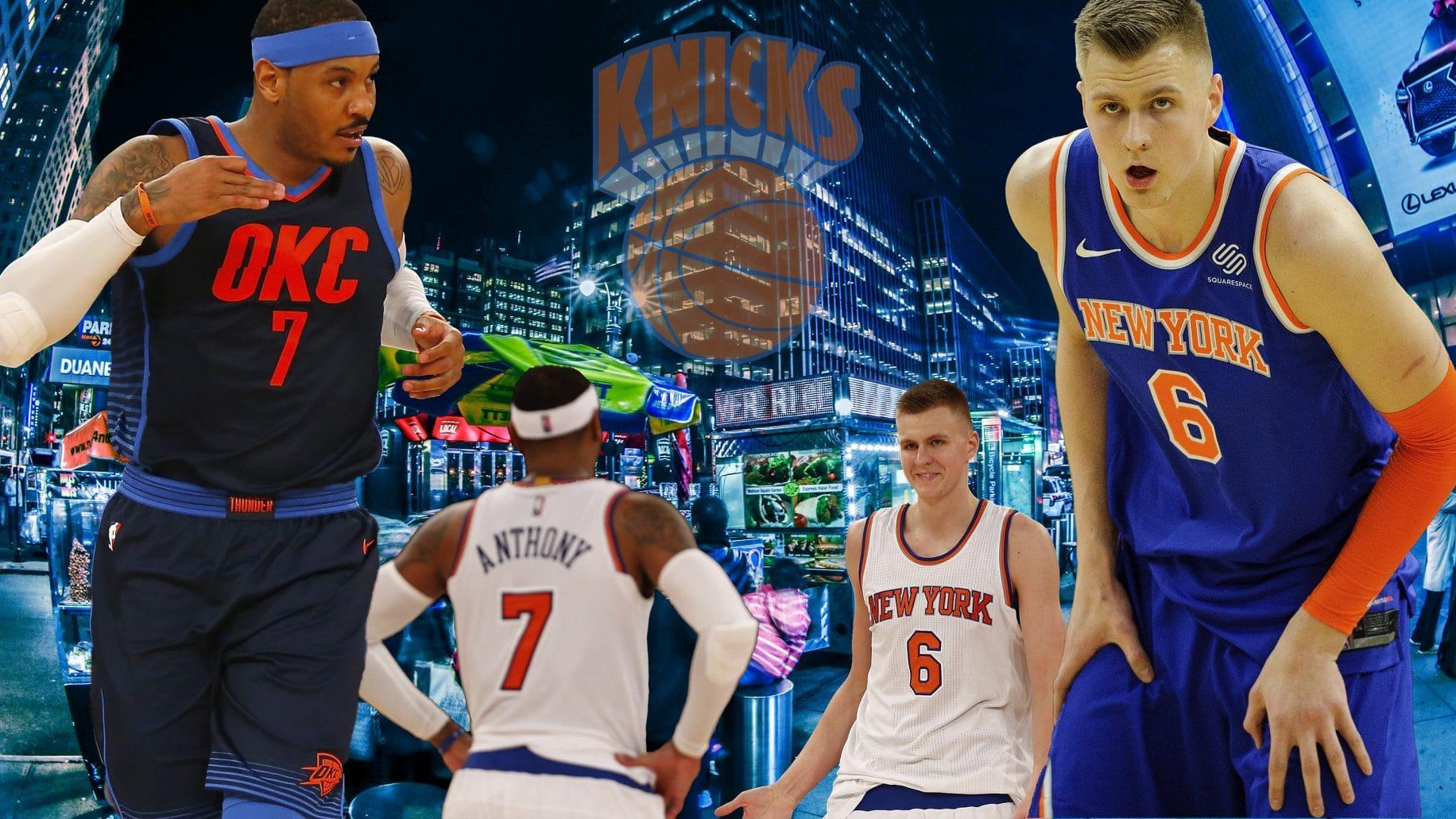 Kristaps Porzingis Carmelo Anthony New York Knicks