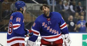 Henrik Lundqvist shaken up looking at John Gilmour