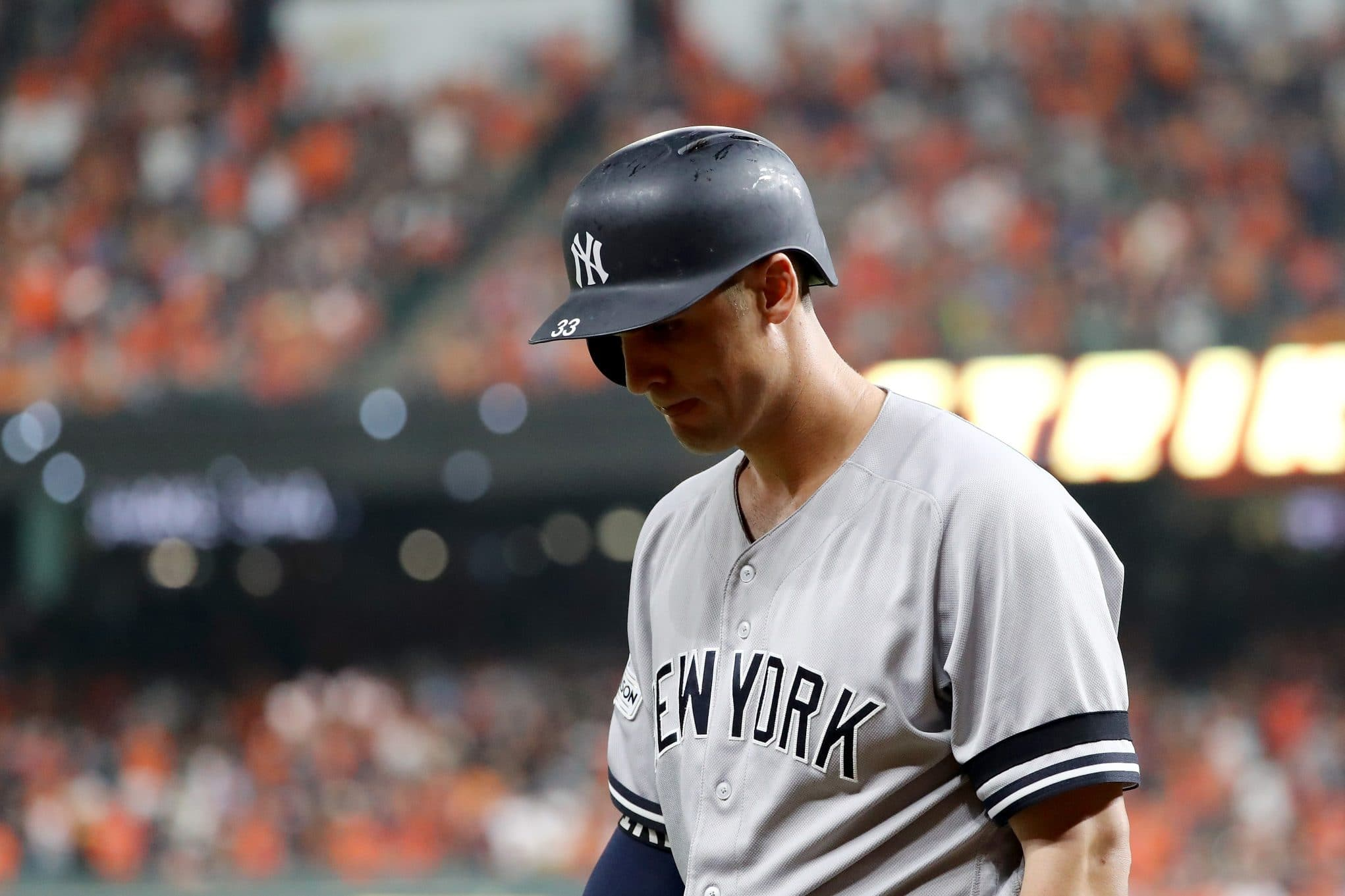 Greg Bird Removed From the Yankees Lineup With a Sore Right Foot