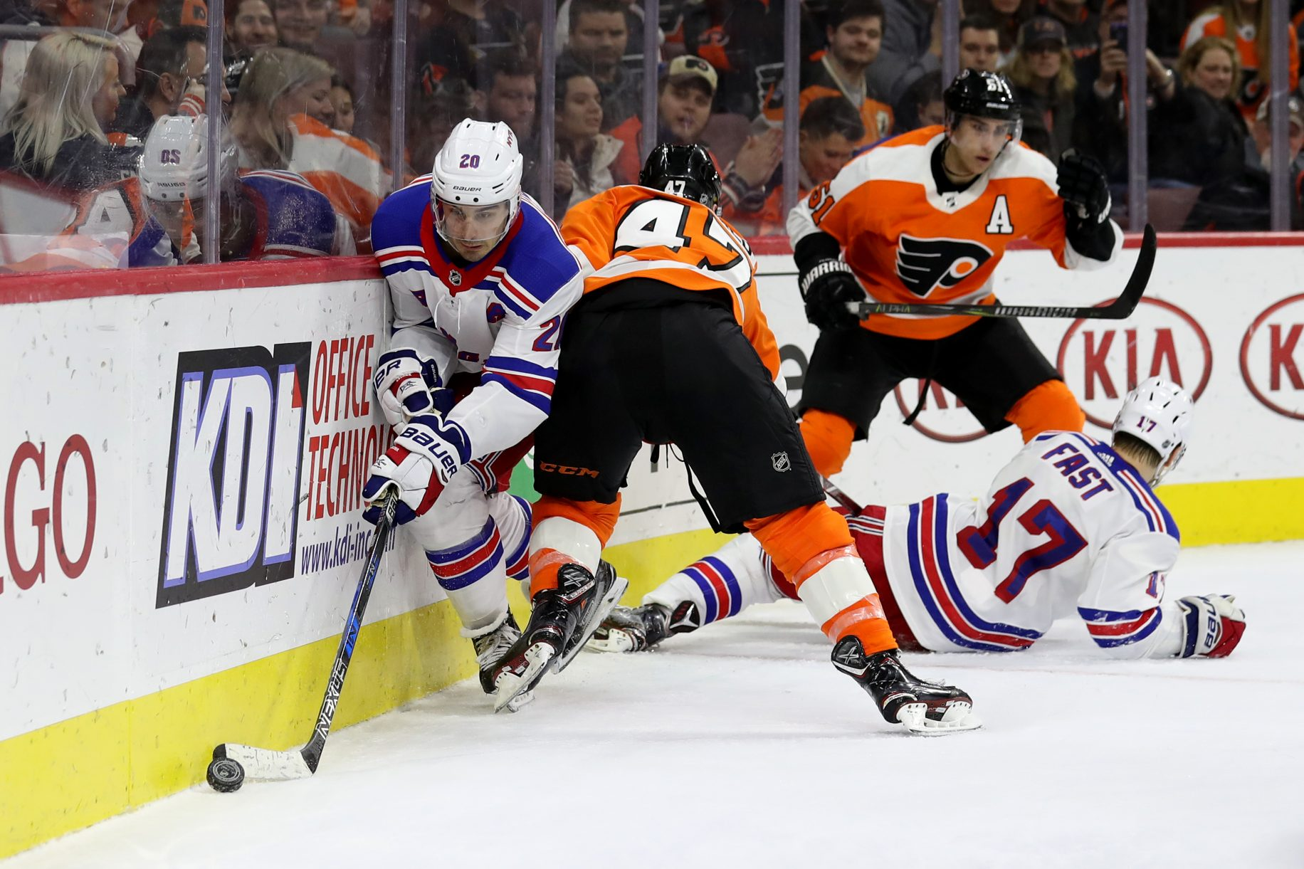 Rangers fall to Flyers
