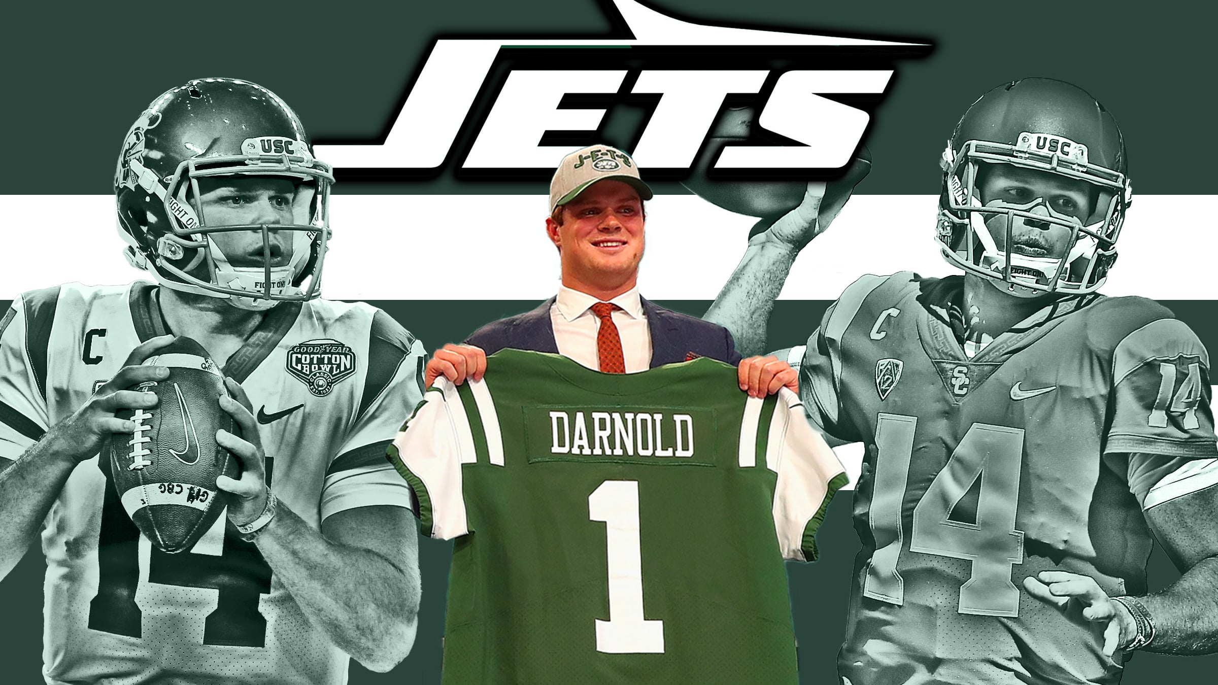 sale retailer a34cd b7b5c New York Jets QB Sam Darnold passes initial test with flying ...