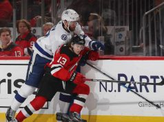 New Jersey Devils Hirschier speared