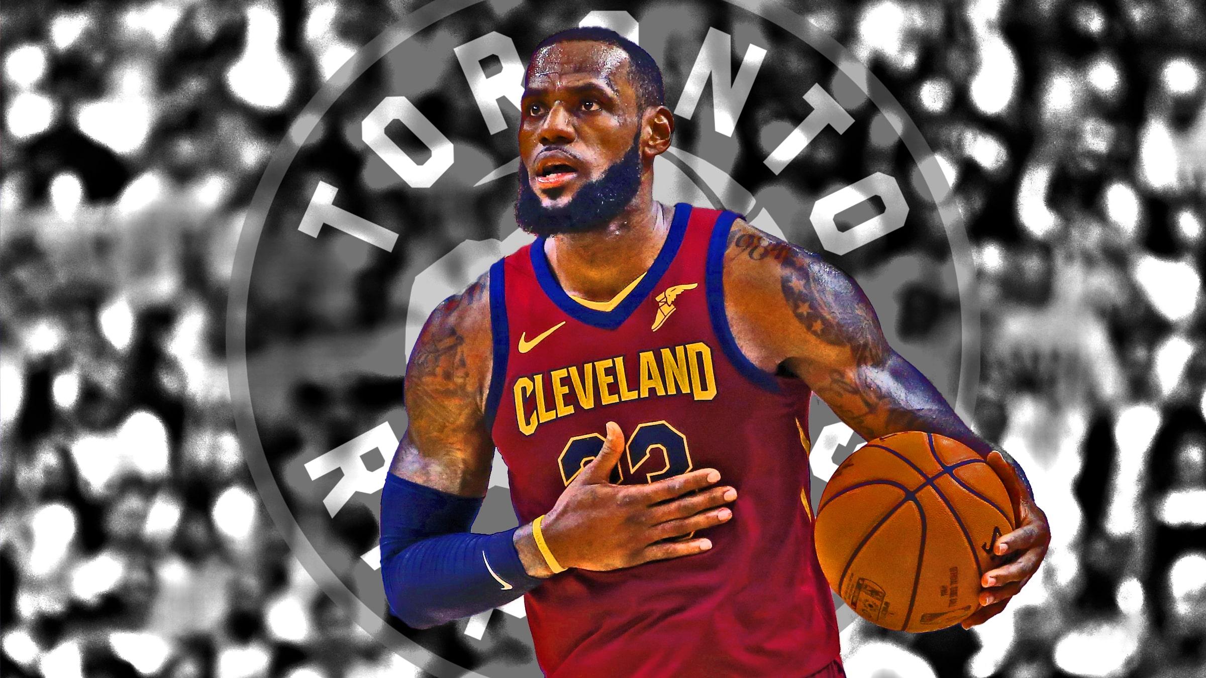 pretty nice 665b1 4345f NBA news: LeBron James tears up Raptors again, creating LeBronto