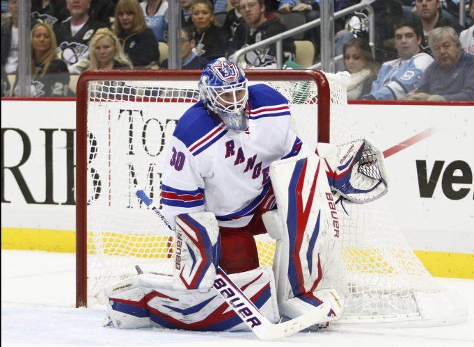 New York Rangers Lundqvist back on the ice