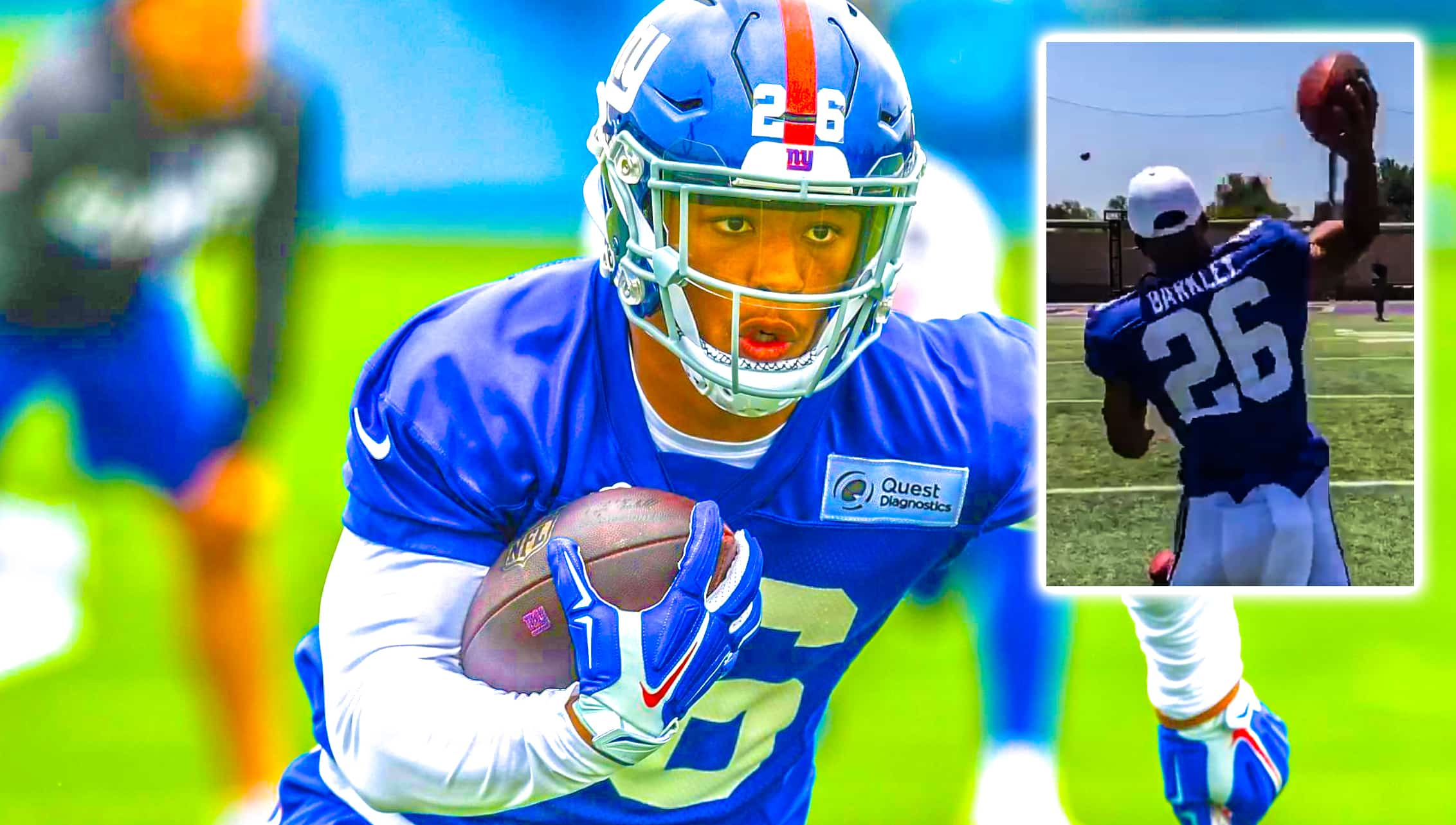 online store a7d70 aa103 New York Giants news: Saquon Barkley shows off ridiculous ...