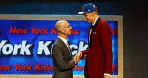 New York Knicks Kristaps Porzingis NBA Draft