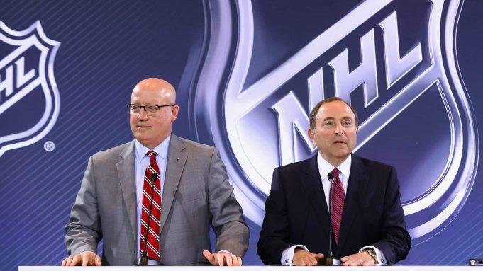 2016 NHL Awards - Board Of Governors Press Conference, Bill Daley, Gary Bettman
