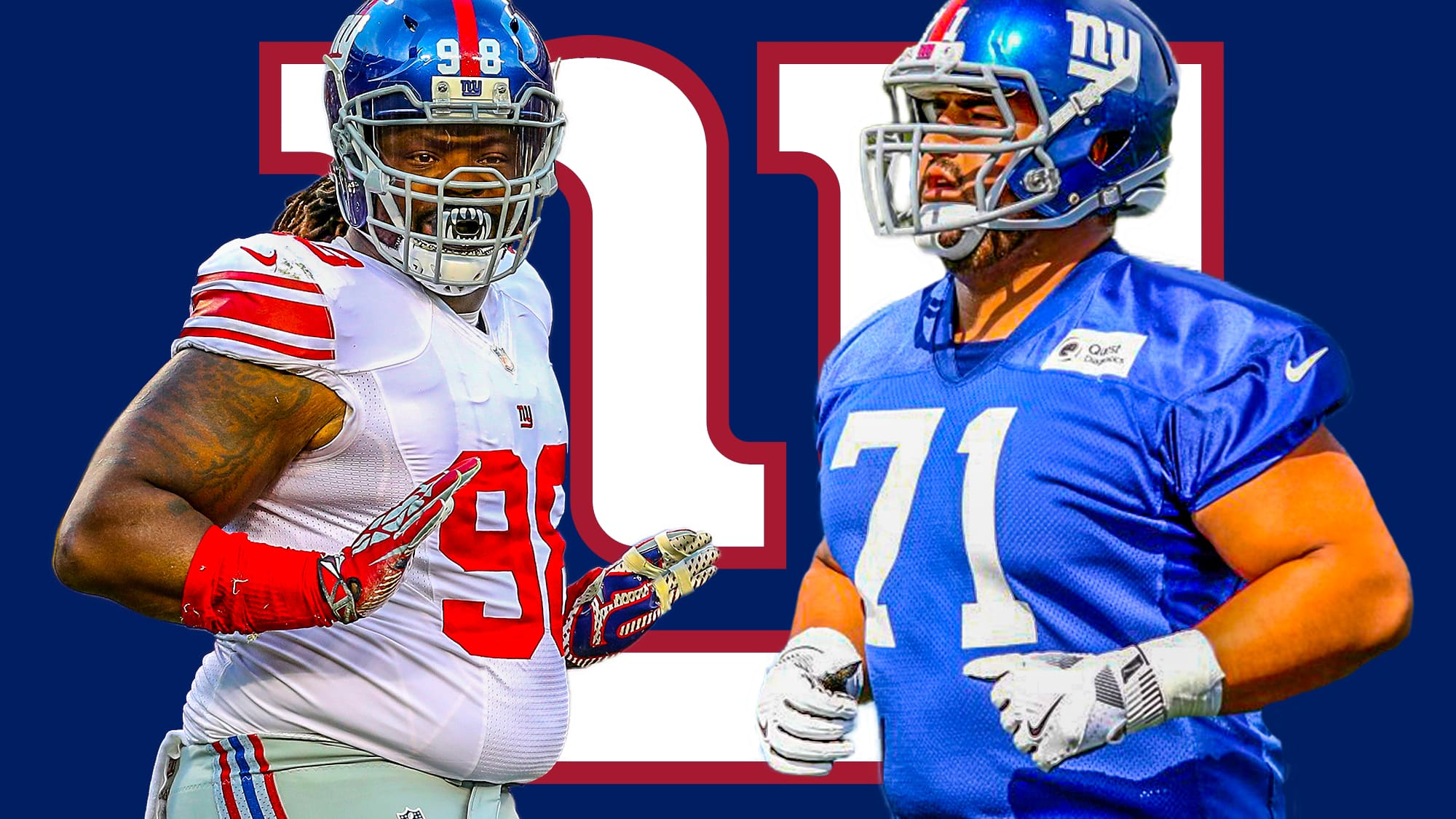 low priced 04058 e62e9 New York Giants news: Will Hernandez, Damon Harrison, square ...