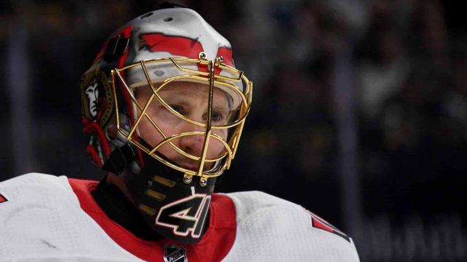 Ottawa Senators, Vegas Golden Knights, Craig Anderson, T-Mobile Arena