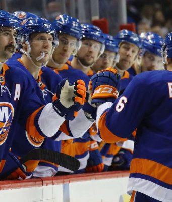 Detroit Red Wings v New York Islanders, Ryan Pulock, Goal For