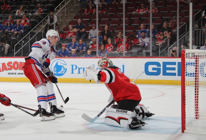Lias Andersson scores twice in the Rangers preseason victory over the Devils